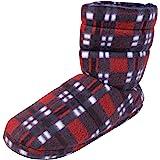 Dunlop Mens Warm Faux Fur Lined House Slipper Boots