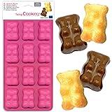 SCRAP COOKING 6723 Moule en Silicone Oursons Guimauve, 12 Formes pour Chocolat & Gâteaux, Ustensile Souple Pâtisserie, Apte F