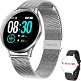 Smartwatch Donna Uomo, HopoFit HF05 Bluetooth Orologio Fitness Impermeabile IP68,Attività Tracker con Monitor del Sonno,Conta