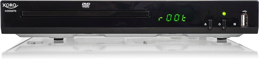 Xoro HSD 8470 HDMI MPEG4 DVD-Player (USB 2.0, Mediaplayer, 1080p Upscaling, MultiROM) Schwarz