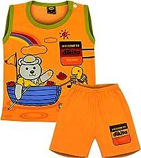 SVS Boys Cotton Casual Sleeveless Tshirt and Shorts