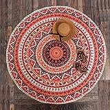 Stile: una varietà di stili  Tasso di errore: 1%  Stile: una varietà di stili  Tessuto: poliestere  Colore: rosso-arancione  Dimensioni: 147 * 147 centimetri  gente applicabile: Genera...
