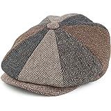 Jaxon & James Herringbone Patch Newsboy Cap - Multi-Coloured