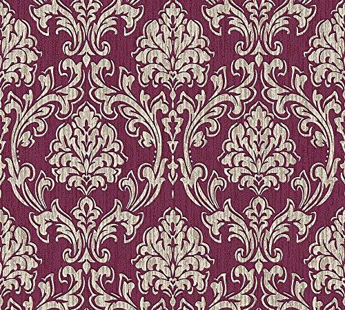 Esprit Vliestapete Eccentric Luxury Tapete mit Ornamenten barock 10,05 m x 0,53 m creme metallic rot Made in Germany 357022 35702-2