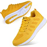Youecci Mujeres Zapatillas de Deportivos de Running para Mujer Gimnasia Ligero Sneakers Malla Transpirable con Cordones Zapat