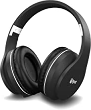 Flybot Rock Over-Ear Bluetooth Headphone with Seamless Controls, IPX 5 Sweat Proof Cushions, up to 6 Hours Playtime (Black-Si