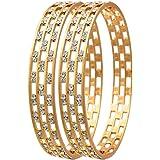 Jewels Galaxy Copper Bangle for Women (Copper) (JG-BNS-559-1)