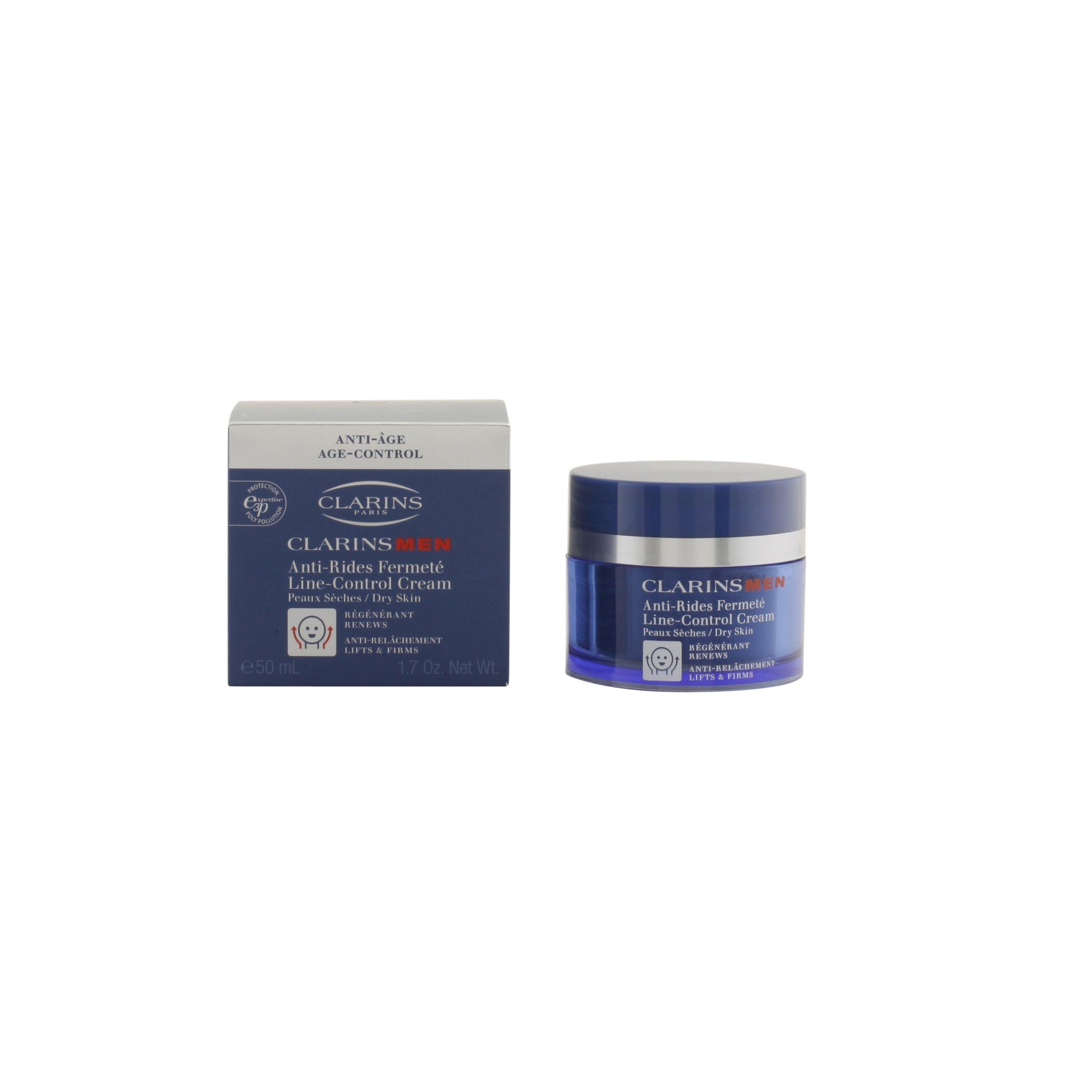 Clarins Men – Line-Control Cream – Crema antiarrugas y firmeza para pieles secas – 50 ml