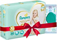 Pampers Premium Care Extra Large Size Diapers Pants (38 Count) and Pampers Fresh Clean Baby Wipes (64 count) combo pack