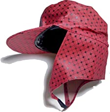 Rain Cap with Clip, Doted Design, Pack of 1, Fully Covered Head,Big Size. Fully Water Proof. Color Randomly Pick,