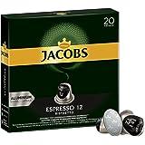 Jacobs Kapseln Espresso Ristretto - Intensität 12-200 Nespresso (R)* kompatible Kaffeekapseln aus Aluminium (10 x 20 Kapseln)