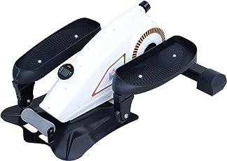 Homcom Mini Ellipsenmaschine Unter Desk Trainer mit LCD Monitor Schwarz Weiß 76x49x32cm
