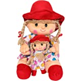 Funny Land Family Doll with Sister (Red)
