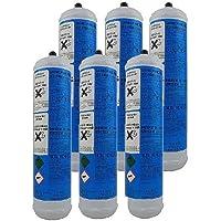 Set de 6 bouteilles de gaz CO2 jetables pour machines à gazéifier, E290 alimentaire
