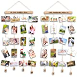 Uping Marco Fotos para Pared Colgar Fotos Pared con Pinzas, Decoración del Hogar Y Regalo (2 Pack, con Pegatinas de Alfabeto