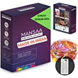 MANSAA® Battery Operated Fairy Lights, Made in India (Multicolor, 10Feet / 3Mtr)