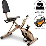 Exerpeutic Gold 525XLR hopfällbar liggande motionscykel/Recumbent Bike med 181 kg maximal användarvikt