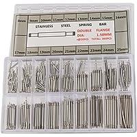 UEETEK 360 pezzi perni a molla per orologi in acciaio inox 8-25 mm acciaio inox per la riparazione del cinturino…
