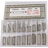 UEETEK 360 pezzi perni a molla per orologi in acciaio inox 8-25 mm acciaio inox per la riparazione del cinturino orologio (ar