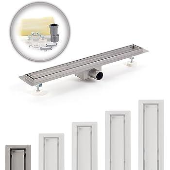 600 x 70 mm, STRICHE Duschrinne Bodenablauf Ablaufrinne Abflussrinne Duschablauf in verschiedenen Modellen und Gr/ö/ßen
