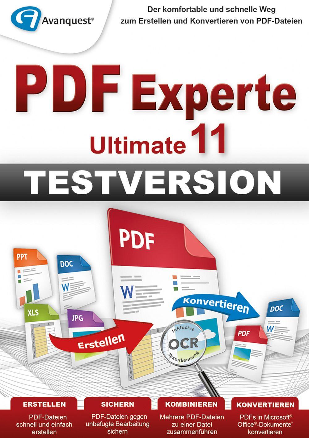 PDF Experte 11 Ultimate - kostenlos testen! Windows 10 8 7 Vista XP [Download]