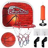 Sanlebi Basketballkorb fürs Zimmer Mini Basketball Ballspiele für Kinder mit Bälle Pump Basketballkorb aus Metall Indoor Outd