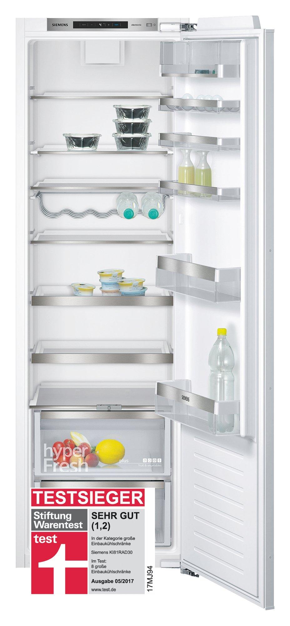 Siemens KI81RAD30 iQ500 Einbau-Kühlschrank / A++ / Kühlen: 319 L / TouchControl Elektronik / Flachschanier