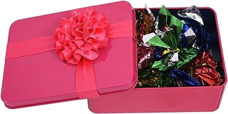 Chocoworld Pink Tin Chocolate Box | Handmade Assorted Chocolates Box | Best Chocolate Gift Pack for Rakhi, Birthday, Anniversary Gift