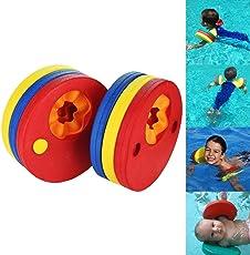 ToWinle Schwimmscheiben, 6Stk Schwimmflügel Baby Schwimmhilfe für Kinder Schwimmer Discs Schaum Schwimmen Armbands