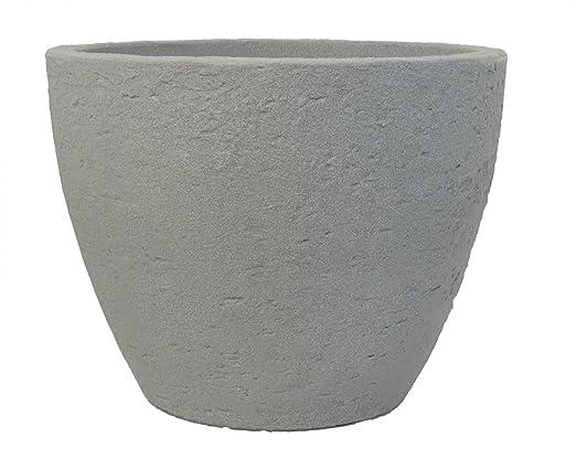 Pflanzkübel Stone rund aus Kunststoff Steinoptik , Durchmesser:60 ...