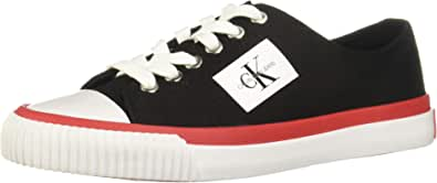 Calvin Klein Jeans Donna Nero Tela Ivory Sneaker