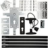 KOTARBAU garageslot 60 mm stalen set deurslot garagedeurslot profielcilinder voor kanteldeuren poortschegel deursluiting set