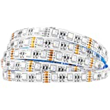 BTF-LIGHTING 5050 RGBW SMD 4 en 1 RGB + blanc froid 60LEDs / m 5m 300LEDs (300 LED RGB + 300 LED blanches froides) flexible I