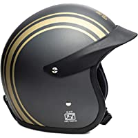 Royal Enfield Open Face with Peak Helmet at Grey RVP Stripe (L)60 CM(RRGHEI000082)
