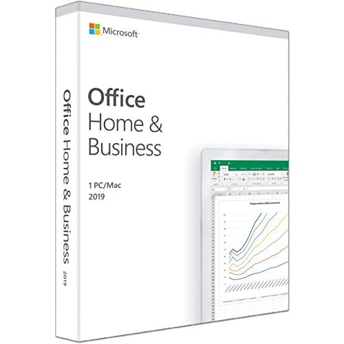 Microsoft Office Home and Business 2019 | il pagamento avviene una sola volta | si installa su 1 PC (Windows 10) o Mac |1 licenza commerciale | scatola
