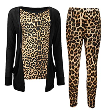 NEW GIRLS KIDS TWEEN LEOPARD ANIMAL PRINT LONG SLEEVED CARDIGAN ...