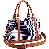 LOSMILE Damen Reisetaschen Handgepäck Canvas Sporttasche Weekender Tasche Carry-on Duffle Bag Frauen Schultertaschen Handtasc