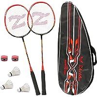 Philonext Badmintonschläger Set mit 3 Federbällen & Tragetasche & 2 Overgrip, Carbon Profi Badmintonschläger…