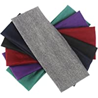 6 Pieces Yoga Cotton Headbands, Elastic Head Bands for Teans and Women Assorted Colours