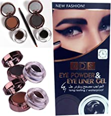 ADS Long Lasting/Waterproof Eyebrow Powder & Eyebrow Gel 3g+4g Black and Brown