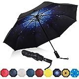 Amazon Brand - Eono Paraguas Plegable Automático Impermeable, Paraguas de Viaje a Prueba de Viento, Folding Umbrella, Recubri