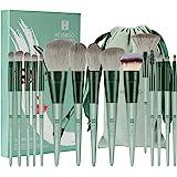 HEYMKGO- Juego de brochas Pinceles de maquillaje 15 piezas de cerdas sintéticas de primera calidad Mango cónico de Kabuki Bro