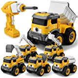 GizmoVine Bagger Spielzeug ,6 In 1 Ferngesteuertes Montage Baufahrzeug Autos,Sandkasten Spielzeug ,DIY Spielzeugauto mit…