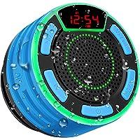 Altoparlante Bluetooth, moosen Cassa Portatile per doccia Senza fili Bluetooth impermeabile IPX7 con FM Radio, LED…