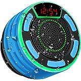 Altavoz Bluetooth, moosen IPX7 Impermeable Altavoz de Ducha Bluetooth Inalámbrico Portátil con FM Radio, Pantalla LED, TWS y