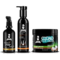 Muuchstac Herbal Hair Care Kit - Hair Growth Oil (100ml), Herbal Shampoo with Inbuilt Conditioner (200ml), Cocoalo Hair…