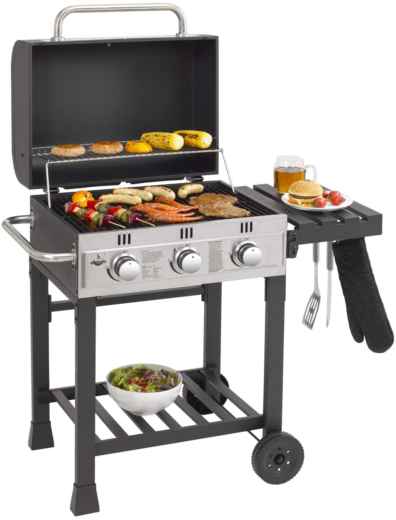 El Fuego Gasgrill Ontario-Gas Grill Grillwagen BBQ AY 539