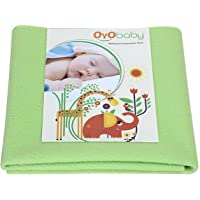 OYO BABY - Soft, Cosy, Quick Dry Water-Proof & Reusable Mat (Size: 70cm X 50cm) (28inch X 19inch) (Small) (Light Green)