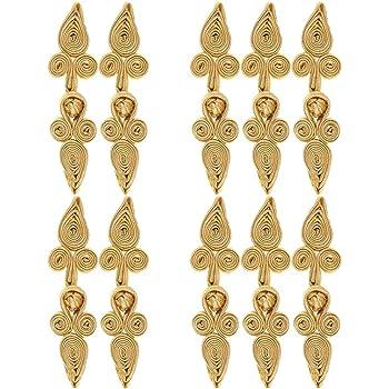 Baoblaze 10 St/ücke Traditionellen Chinesischen Knoten Schlie/ßung Cheongsam Frosch Verschluss Chinese Knot Frog Knot F/ür Cheongsam Kleid DIY 55 x 25 mm Gold