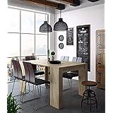 Skraut Home - Table Console Extensible avec rallonges, jusqu'à 140 cm, pour Salle à Manger et séjour, Couleur chêne Clair bro